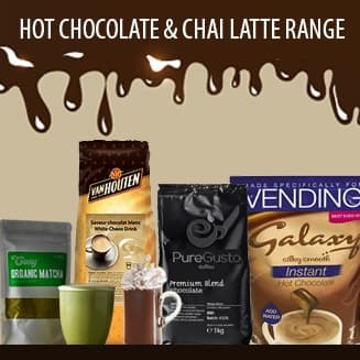 hot chocolates and chai drinks