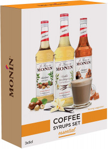 EXCLUSIVE - MONIN Premium Coffee Syrup Gift Set 3 Bottles