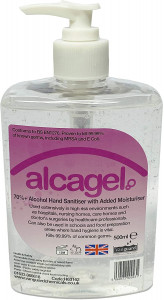 Vanguard Alcagel Hand Sanitiser 70% Alcohol 500ml Bottle