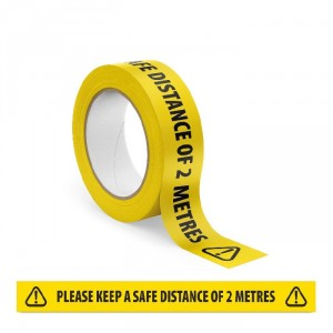 Social Distance Floor Tape - Keep A Safe Distance Tape x 33m