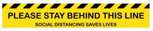 Stay Behind The Line - Anti Slip Floor Sticker