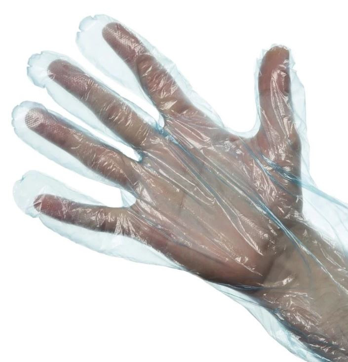 Blue HDPE Soft Food Prep Gloves x 100