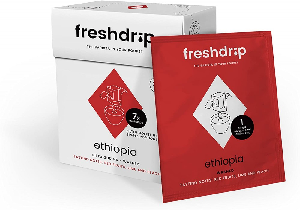 FreshDrip One Cup Coffee Filter Bags - Ethiopian